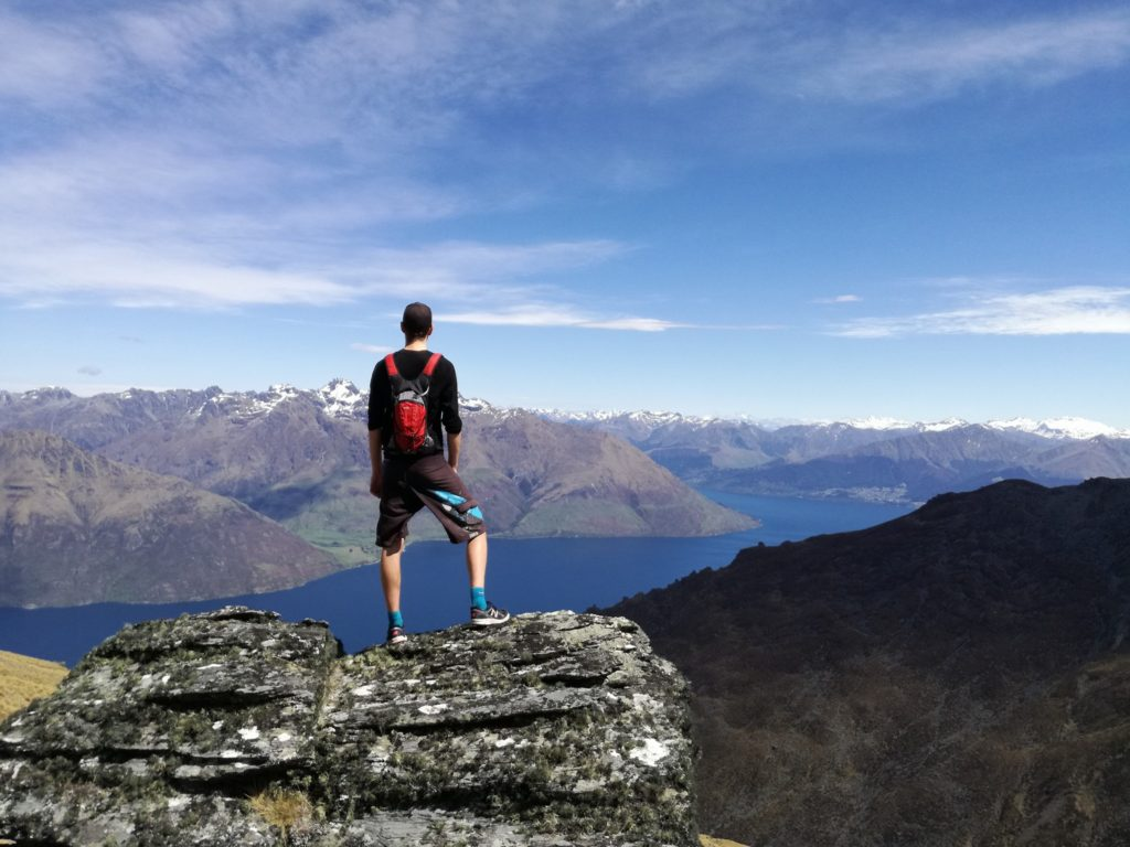 The view of Queenstown from the Remarkables Range