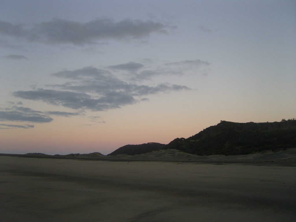 dawn sand dune pouto point
